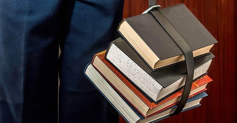 A few bonded books.